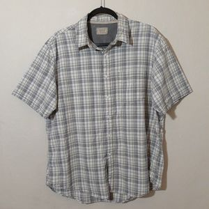 Men Plaid Shirt Size Large